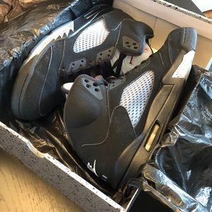 Air Jordan 5 Retro OG Black Metallic - Size 12